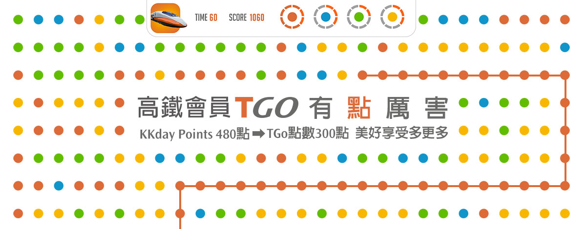 KKday Points X 台灣高鐵TGo點數兌換合作