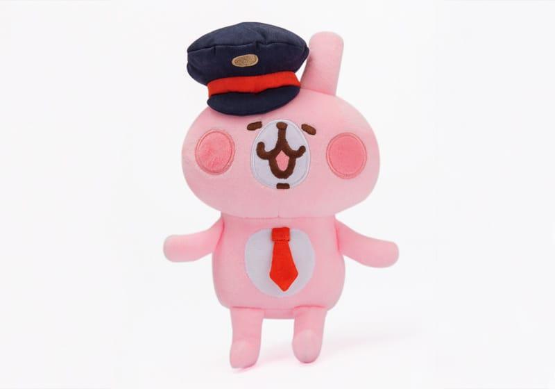 高鐵聯名絨毛玩偶-粉紅兔兔列車長
