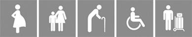 孕婦、長者、孩童、行動不便、或攜帶大件行李者請搭乘電梯