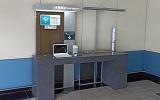 嘉義站上網台位於1樓大廳,提供公用筆電上網
