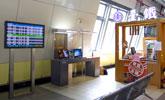 台南站上網台位於1樓大廳,提供公用筆電上網