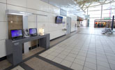 左營站上網台位於2樓大廳,提供公用筆電上網