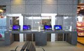 台中站上網台位於2樓大廳,提供公用筆電上網