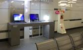 台北站上網台位於B1大廳,提供公用筆電上網